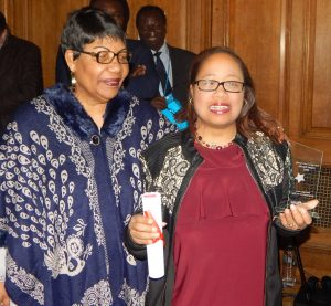 Georgina-Pierre-Louis-receives-her-award-as-Haringey-Hero-Volunteer-of-the-Year-2016